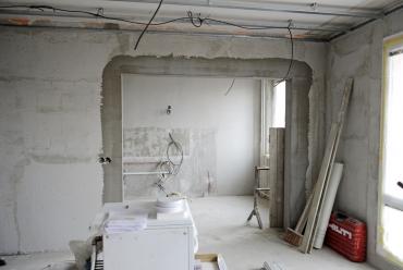 Obr. 3: Stavební práce na ostění otvoru