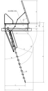 Stahovací schody Aristo