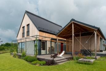 Cena poroty I – Pasivní rodinný dům: Dům na větrném kopci, návrh ARCHCON atelier, s. r. o.