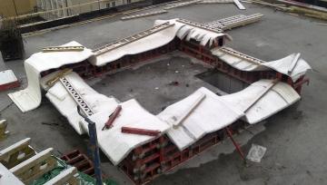Obr. 3, 4: Ošetřování betonu v zimě