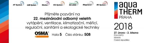 OSMA zve na veletrh Aquatherm Praha