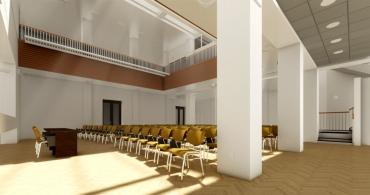 Obr. 5: Vizualizace velkého sálu