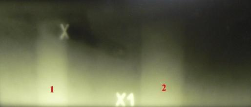 Obr. 4: Na radiogramech bylo jasně prokázáno, že všechny pruty výztuže jsou zakráceny pod úrovní průvlaku
