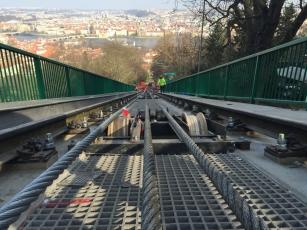 Kompozity při rekonstrukci mostu lanové dráhy na Petřín