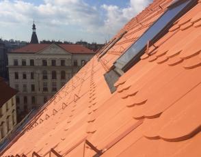 Kategorie Veřejné stavby, 1. místo – rekonstrukce střechy půdní nástavby v Praze na Novém Městě