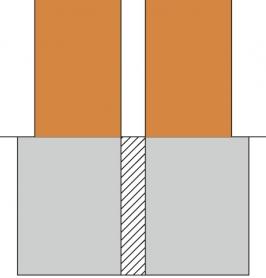 Obr. 7: Schéma oddilatovaného základu