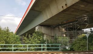 Celkový pohled na sanovaný most v Teplicích