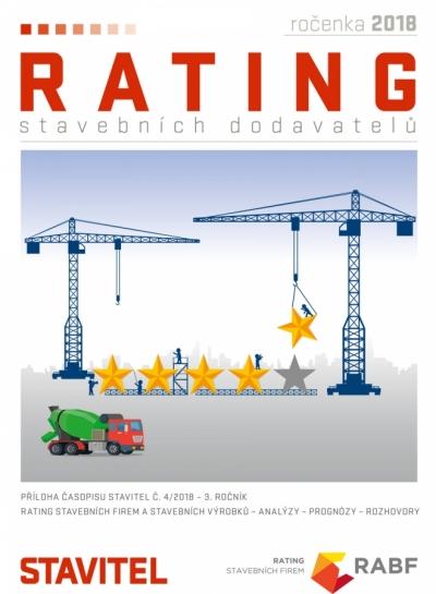 Rating stavebních dodavatelů 2018