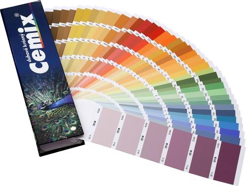 Omítku je možné probarvit do libovolného odstínu ze vzorníku Cemix Duhově krásný