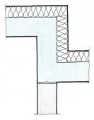 Obr. 6, 7: Zalomené napojení AKU stěny natupo