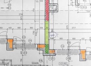 Obr. 11: Ukázka projektové dokumentace se zbytečně komplikovanou kombinací materiálů