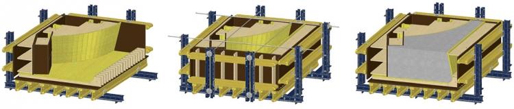 Pro revitalizaci nádraží v Pardubicích bylo v dílně na zvláštní bednění Doka vyrobeno 61 forem pro 155 prvků. Do nich byl ukládán beton pro designové obrubníky a kašnu, které přetvořily přednádražní prostranství. Formy byly projektovány v 3D programu Doka Cad.