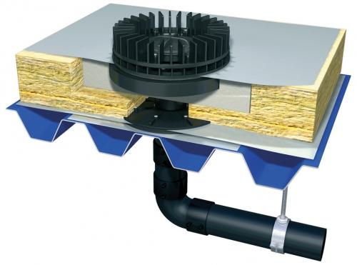 Podtlakový systém odvodnění plochých střech Wavin QuickStream