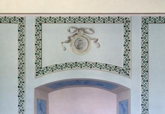 Obnovené malby v interiéru