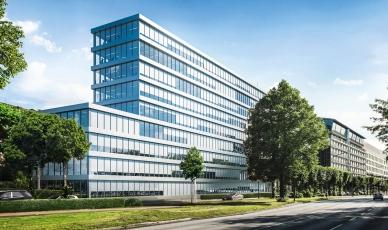 Sluneční clona Schüco CSB jako součást designu budovy