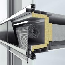 Integrace sluneční clony Schüco CSB do fasádního systému Schüco FWS 50
