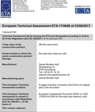 Obr. 3: ETA – 17/0648 rev. 1; první strana dokumentu (zdroj http://x.etadanmark.dk)