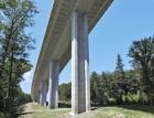 Betonáž mostu přes údolí Kremlice
