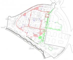 Obr. 10: Plán odvodnění areálu
