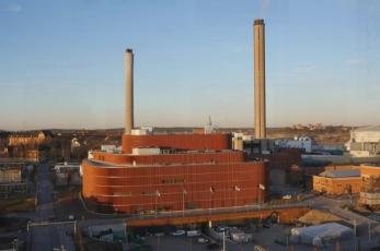Värtan Bioenergy CHP-plant (Stokholm, Švédsko), foto Robin Hayes