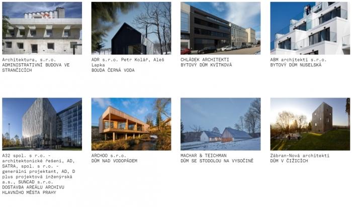 Česká cena za architekturu – užší výběr