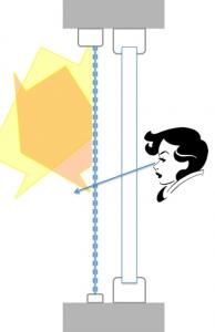 Obr. 7: 90% odraz sluneční energie při zachování průhlednosti