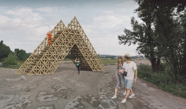Rohanský ostrov, návrh na vyhlidkovou věž od H3T