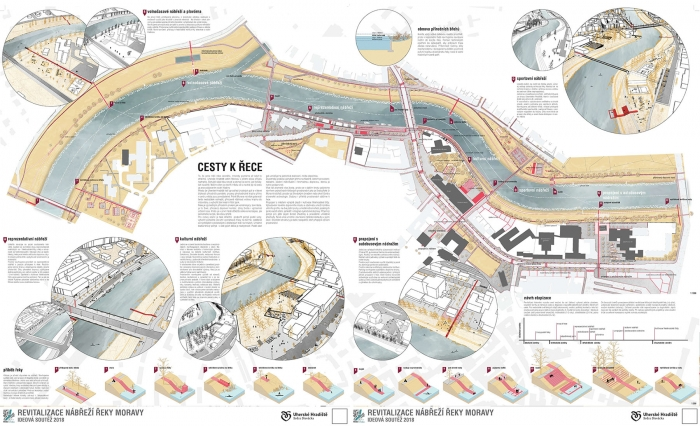 Revitalizace nábřeží řeky Moravy v Uherském Hradišti, A69 – Atelier