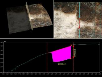 Obr. 5: Digitální mikroskop VHX-5000 a možné laboratorní zkoumání zájmových oblastí povrchu artefaktu
