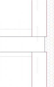 Obr. 5: Vyložení zdiva pro zateplení stropní desky