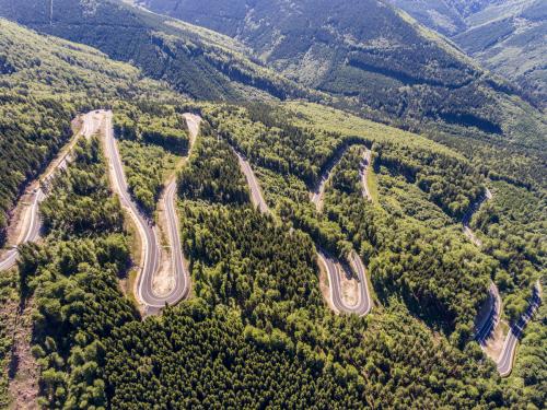 Obr. 2: Silnice I/44 Červenohorské sedlo – jih