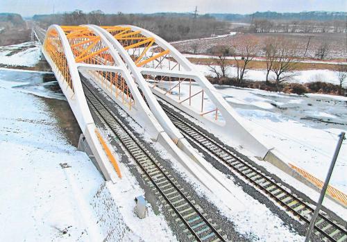 Obr. 7: Rekonstrukce mostu v km 80,930 trati Hohenau (ÖBB) – Přerov
