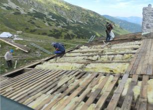 Rekonstrukce chaty generála Milana Rastislava Štefánika s využitím materiálů Rheinzink