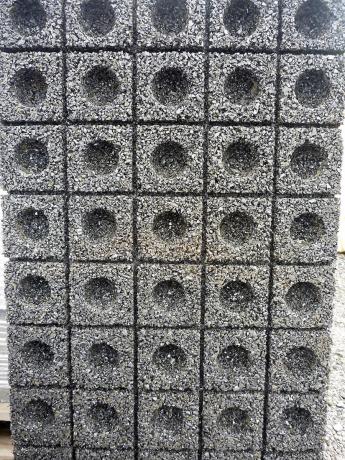 Obr. 6–9: Povrchové úpravy protihlukových stěn s využitím gumového granulátu