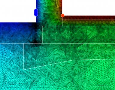 Obr. 3: Detail založení základové desky na pěnovém skle se soklem zatepleným XPS, zdivo bez zateplení