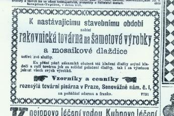 Inzerát z roku 1891