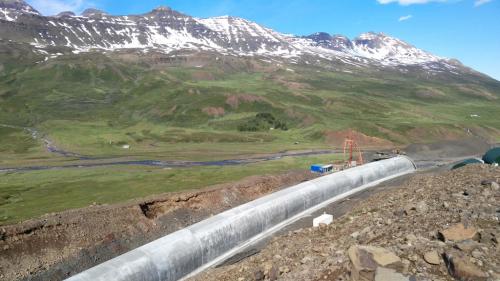 Tunel Norðfjörður, Island