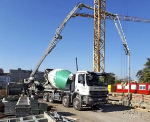 Vivus Argentinská, dodávky chlazeného betonu v extrémně horkých letních dnech