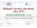 Lasselsberger nejlepším výrobcem stavebnin roku 2017