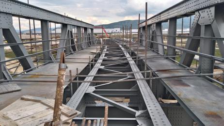 Stav mostu při rekonstrukci