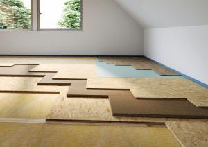 Podlaha z materiálů Egger