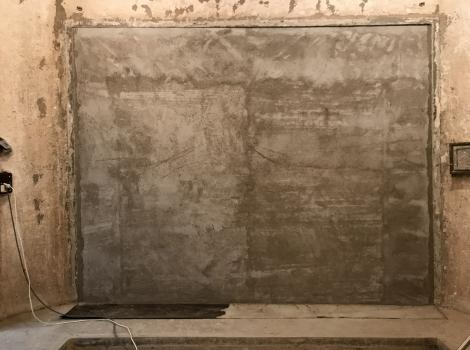 Obr. 5: Dozděná akusticky dělicí stěna z cihel Porotherm 25 AKU SYM po vybourání obvodové stěny