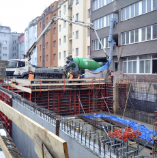 Průběh betonáže