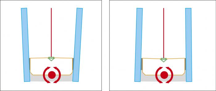 Obr. 7: Fólie v rámečku (Glasstec 2014). Díky drážce v rámečku je kloub přemístěn až do obvodového tmelu. Butyl není namáhán. Testy potvrdily nulový únik plynu, a tedy i správnost řešení.