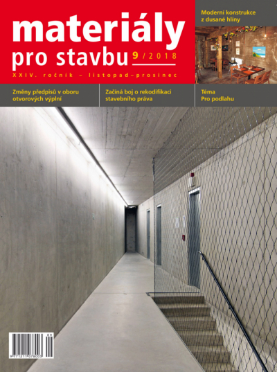 Materiály pro stavbu 9/2018