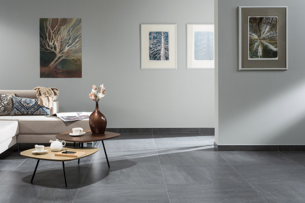 Podlahová série Quarzit má vzhled kamene