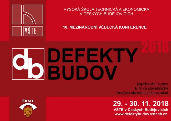 Letos již po desáté se v Českých Budějovicích konala odborná konference Defekty budov