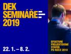 DEK nabízí semináře projektových trendů roku 2019