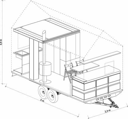 Dům je promyšlen do posledního nýtku, každý milimetr prostoru je vyřešen tak účelně, že do něj sbalíte byt o velikosti 2 + kk