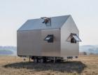 Domek Mobile Hut z hliníkového plechu s okny a dveřmi Schüco